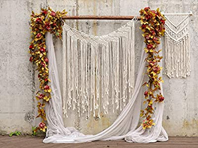 PARTY JOY Artificial Rose Vine Silk Flower Garland Hanging Baskets Plants Home Outdoor Wedding Arch Garden Wall Decor 6.5FT