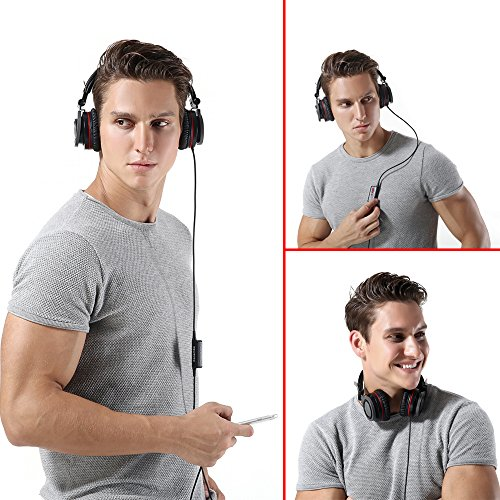 Conambo-Active-Noise-Cancelling-Headphones-On-Ear-Foldable-Headphone-with-Inline-Mic-for-iPhoneiPadiPodSamsungLG-iOS-Android-Smartphones-and-Laptop-PC-with-Airplane-Adapter