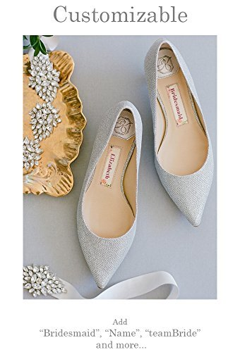 Wedding Shoes Kitten Heel  U201cPatent Pendingu201d Personalization   Silver Wedding  Pumps