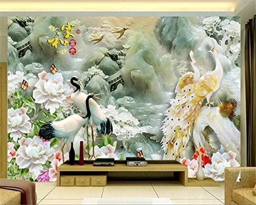 Weaeo Murales 3D Pájaro Grúa Tridimensional Escultura Esmeralda Y ...