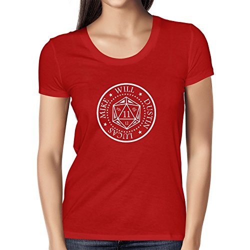 NERDO Strange Cube - Damen T-Shirt, Größe XL, rot
