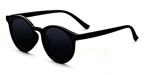 d2726bf71 Kelens Vintage Polarized Horn Rimmed Round Circle Sunglasses UV400  Protection