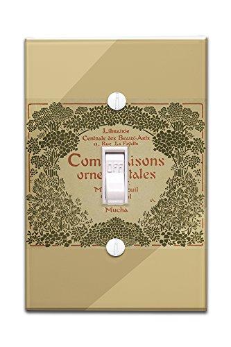 combinaisons-ornementales-cover-vintage-poster-artist-mucha-alphonse-france-c-1900-light-switchplate