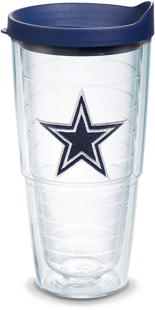 Tervis 1039082 NFL Dallas Cowboys Primary Logo Tumbler with Emblem and Navy Lid 24oz Clear