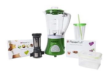 Flavorfull 1160886 - Batidora de vaso, color blanco y verde: Amazon.es: Hogar