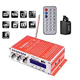 NKTECH 3A Power Adapter HY-502S 3.5mm FM/MP3/USB/SD/DVD Audio Speaker Car Bluetooth Digital Amplifier