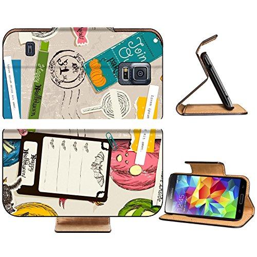 Luxlady Premium Samsung Galaxy S5 Flip Pu Leather Wallet Case IMAGE ID 26453314 Vintage Halloween scrapbooking set (Scrap Clipart)