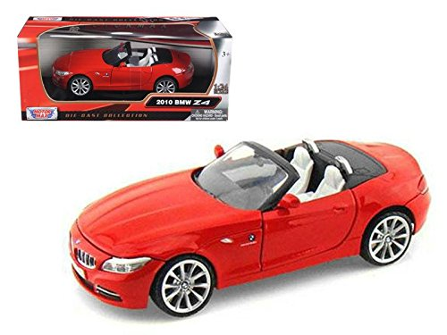 Motormax 73349 2010 BMW Z4 Convertible Red 1/24 Diecast Model Car (Bmw Convertible Toy Car)