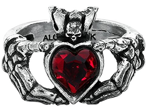 Claddagh By Night Ring (Size Q , US 8.5)