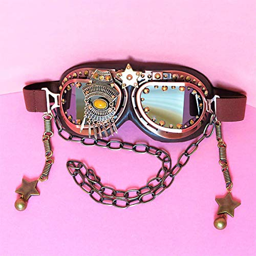 3f3fbd1c529d Amazon.com  Steampunk goggles burning man costume goggles rave ...