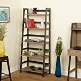 Rustic Urban 5-Tier Storage Shelf Organizer With Natural Reclaimed Wood Look Finish and Industrial Black Metal Legs