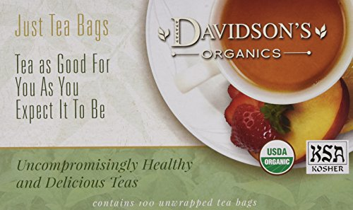 - Davidson's Tea Red, Green & White Blend, 100-Count Tea Bags