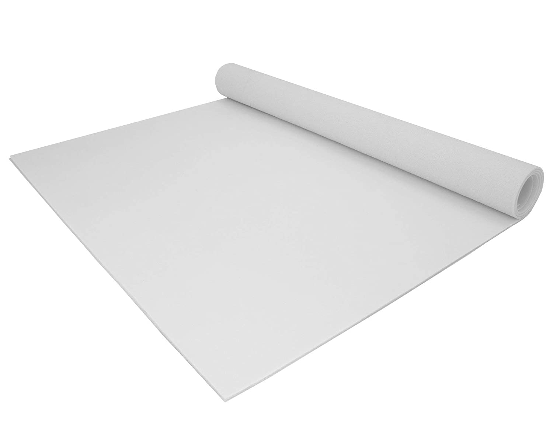 2,00m x 2,50m PVC Bodenbelag EXPOTOP Profi Vinylboden Uni Wei/ß PVC Boden Meterware Vinyl Einfarbig Schwer Entflammbar