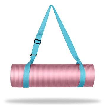 WEHE Adjustable Carrying Exercise Strap Sling for Yoga Mat - Extra Long 86