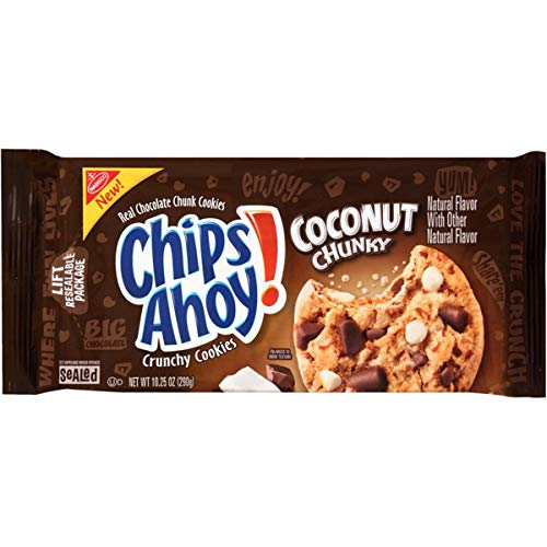 Chips Ahoy! Coconut Chunky Cookies, 10.25 Ounce (Best Chunky Chocolate Chip Cookies)