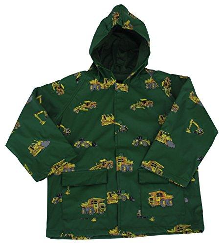 - FoxFire Kid's Construction Equipment Raincoat, Green, 3T