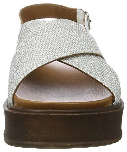 Scarpe Plateau Silver con white Inuovo Wei Donna 7157 OwZSqP