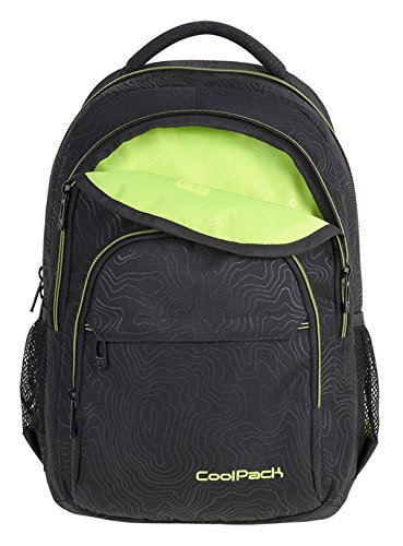 Prime Schulrucksack Rucksack 27 L Basic PLUS Bag Backpack Topographie Gelb Topography Yellow [006] Topography Yellow