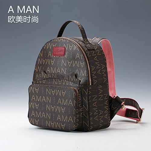 BXMB Bolso mujer Europa y América moda femenina bolsa mochila,ocio,escuela wind,viajes,dulce café 1 Coffee 1