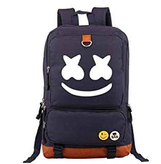 Mochila Escolar Marshmello DJ, Mochilas Infantiles para Chicas Estudiantes Marshmello Logo Backpack Bolso Portátil Viaje