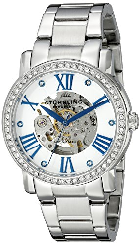 Stuhrling Original Women's 629.01 Legacy Analog Display Automatic Self Wind Silver Watch