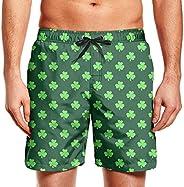Man Active Happy St. Patrick's Day Clover Men's Swimwear Trunks Athletic Beac
