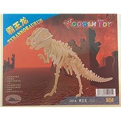 Model 3-D Wooden Puzzle Tyrannosaurus (T-Rex) Children DIY Gift Educational Toy Boy Girl