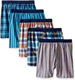 Fruit of the Loom Big Boys' 5 Pack Covered Waistband Boxer