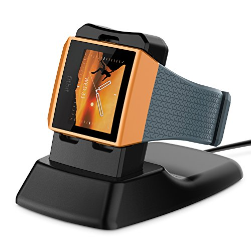 Fitbit Ionic Charger XMS471, Myriann Charging Stand Accessories Charging Dock Station Cradle Holder for Fitbit Ionic Smart Watch - Black
