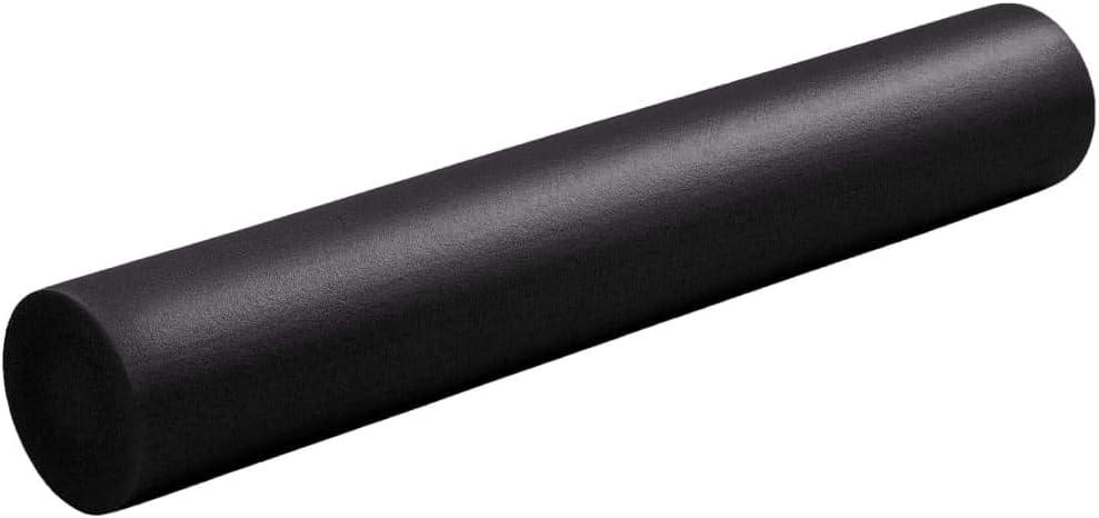 vidaXL Yoga Foam Roller 15 x 90 cm EPE Black