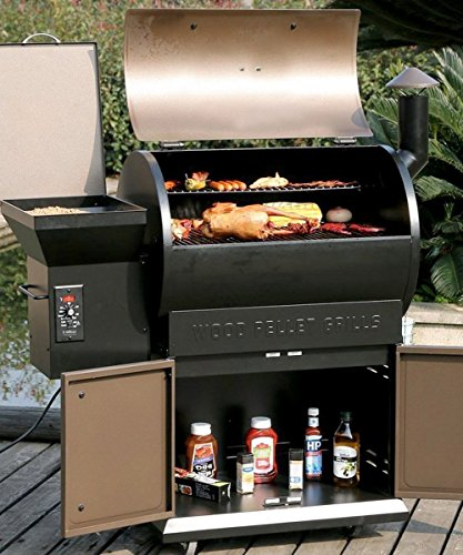 Wood Pellet Grill & Smoker with Patio Cover,700 Cooking Area 7 in 1- Electric Digital Controls Grill for Outdoor BBQ Smoke, Roast, Bake, Braise and BBQ with Storage Cabinet (Free 2 Wood Pellets) by Z GRILLS (Image #1)