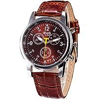 Mens Analog Watch Wrist Watches,Fimkaul Luxury Fashion Crocodile Faux Leather Watches