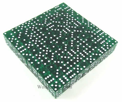 Green Transparent d6 19mm 200ea by Koplow Games