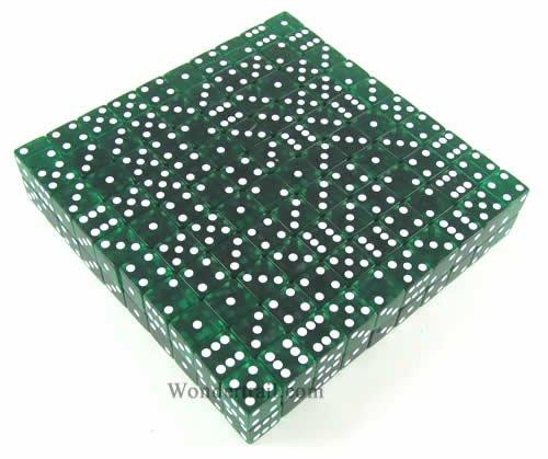 Green Transparent d6 19mm 200ea by Koplow Games