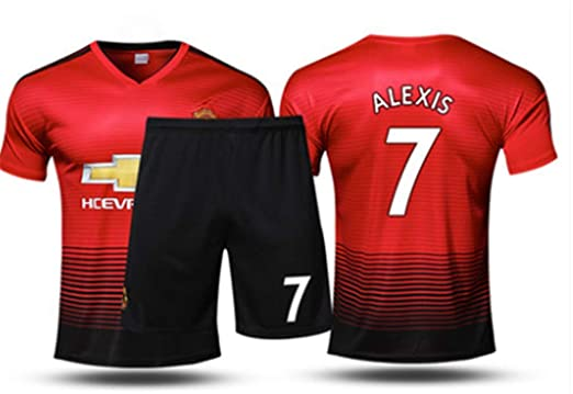 2bf71697f29 LISIMKE Men s Manchester United Soccer Jerseys  7 Alexis Sanchez Home Mens  18-19 Season