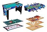 KMH®, Multifunktionsspieltisch 12 in 1 / Multigame Tisch / Multifunktionstisch / Billard / Kicker / Gleithockey / Tischtennis usw. (#800031)