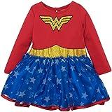 Wonder Woman Girls' Costume Tutu Dress with Long Sleeves