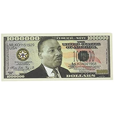American Art Classics Set of 10-Martin Luther King Jr Collectible Novelty Million Dollar Bills by Novelties Wholesale: Toys & Games