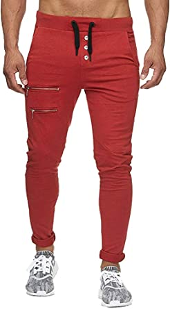 Tomwell Pantolones para Hombres Talla Grande Pantolones Largo ...