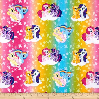 Camelot Throw - 1 Yard - My Little Pony Ombre Toss - Officially Licensed (Great for Quilting, Throws, Sewing, Craft Projects, Wall Hangings, and More) 1 Yard x 44