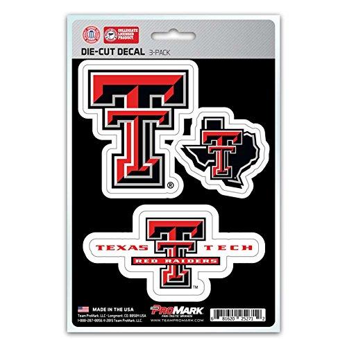(NCAA Texas Tech Red Raiders Team Decal, 3-Pack )