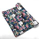 yinchuyindianzi Hand Towels English Springer Spaniel Floral Premium Quick Dry Microfibre Hand Towel 4