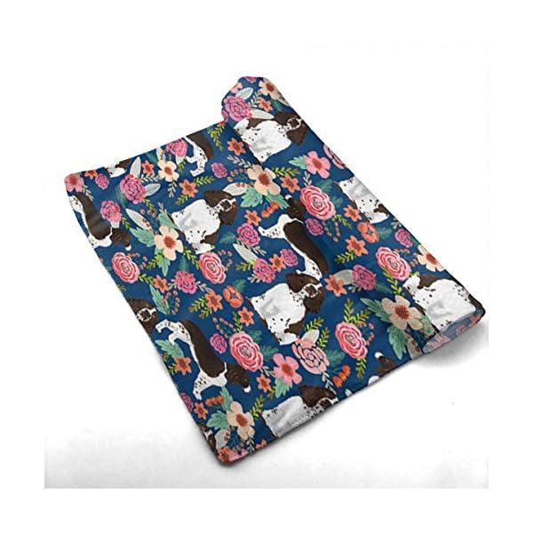yinchuyindianzi Hand Towels English Springer Spaniel Floral Premium Quick Dry Microfibre Hand Towel 2