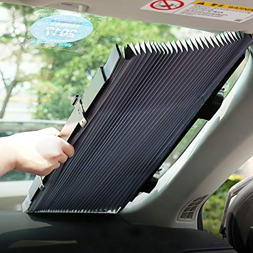 Car Windshield Sun Shade Automatic Sunshade Retractable Windshield Cover for Compact Car