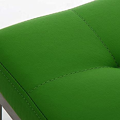 CLP Banco 2 Plazas Barci en Cuero PU I Banco Recibidor con Soporte de Metal I Taburete Pie de Cama I Banco sin Respaldo & Reposabrazos I Color: Verde