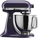 KitchenAid KSM150PSBV Artisan Series 5 Quart Stand Mixer with Pouring Shield, Black Violet