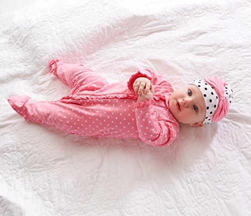 Gerber Baby Girls' 2 Pack Zip Front Sleep 'n Play, Elephants/Flowers, 0-3 Months
