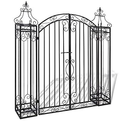 HomeDecor Victorian Style Garden Gate - Outdoor Entryway Archways Estate Iron Door