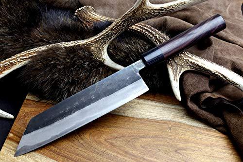 Yoshihiro Mizu Yaki Blue High Carbon Steel Black Forged Kiritsuke Japanese Multipurpose Chef Knife 8.25 In with Lacquered Nuri SayaN by Yoshihiro (Image #2)