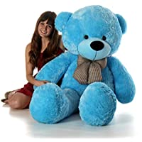 Lovebug Cute Bootsy Sky Blue 90 cm 3 feet Huggable and Loveable for Someone Special Teddy Bear - 90 cm(Blue)